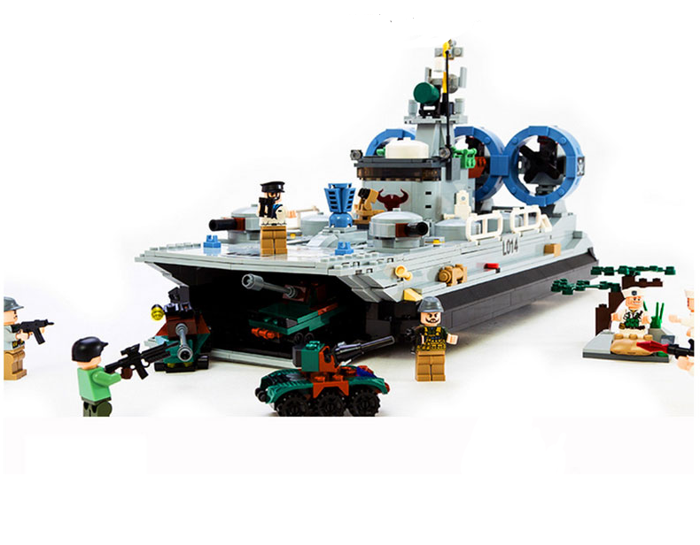 navy hovercraft and army playset