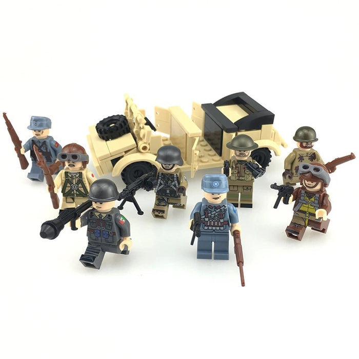 comaprible lego ww2 army
