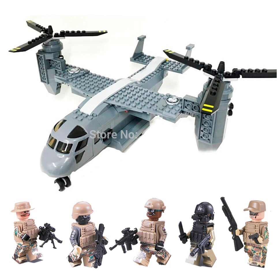 custom lego V-22 Osprey military aircraft