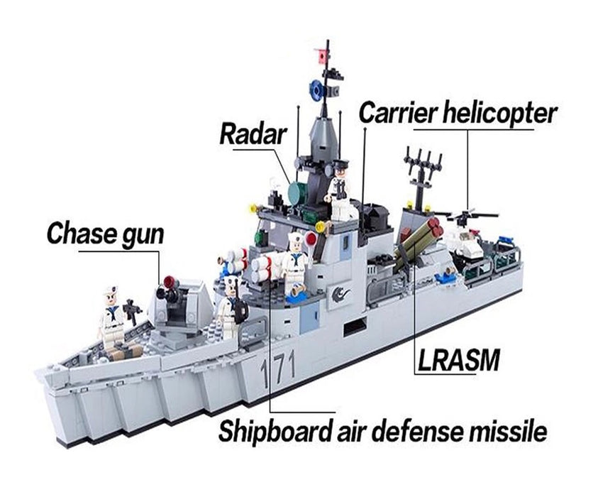 Custom built navy frigate toys