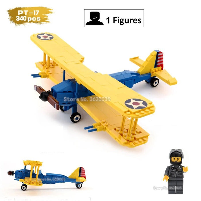 comaptible lego Boeing-Stearman Model 75