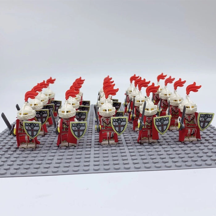 compatible lego army crusader knights figures