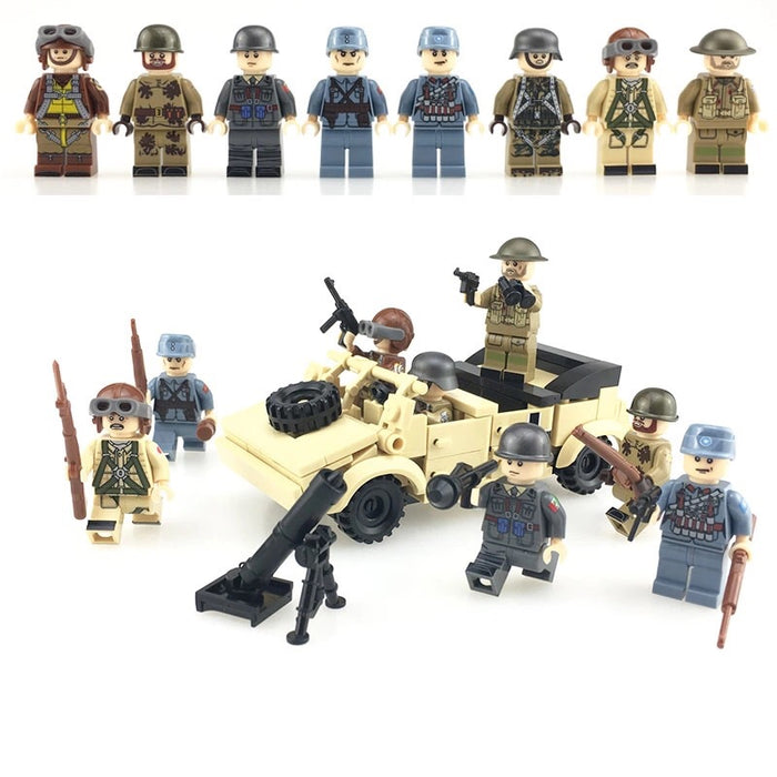 ww2 army toys compatible lego army