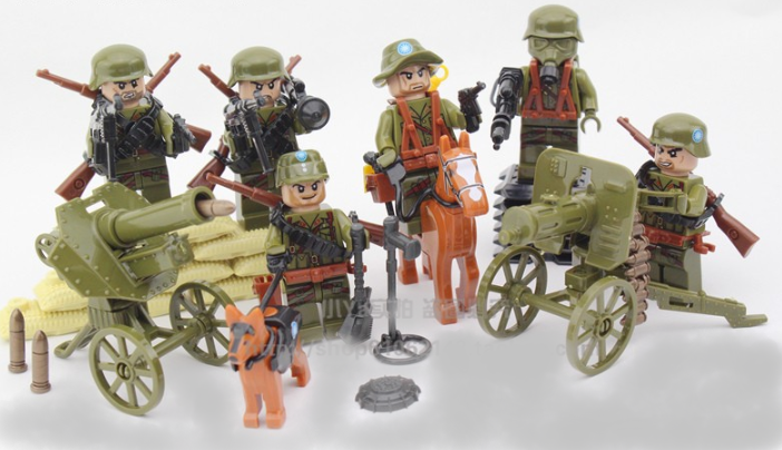 comaptible lego army japanese ww2 figures