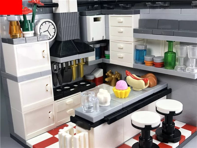 compatible lego New York Style kitchen