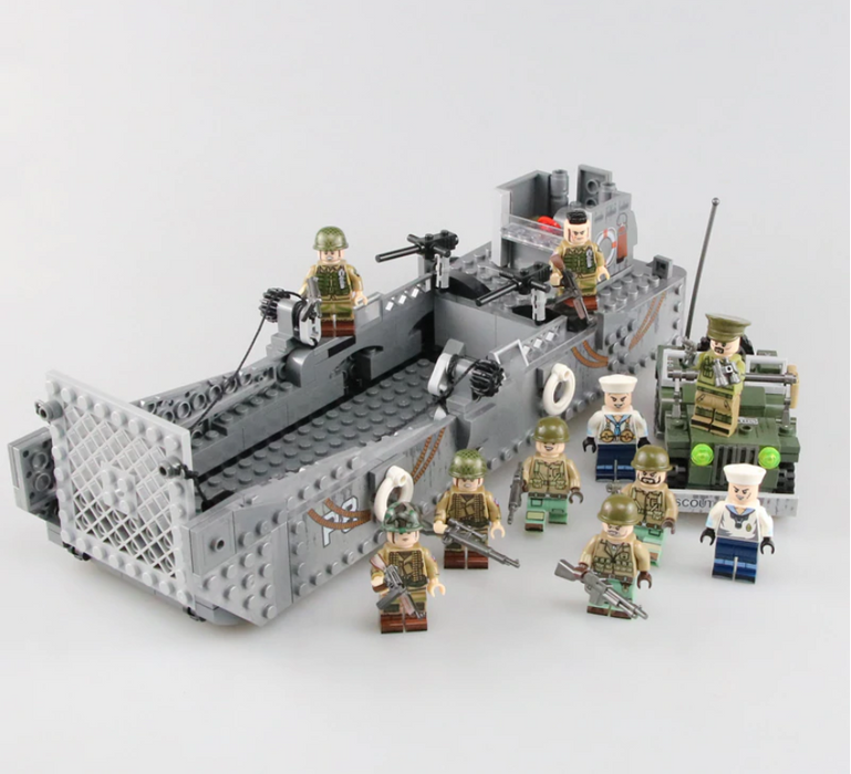 custom lego ww2 lcm3 us landing craft