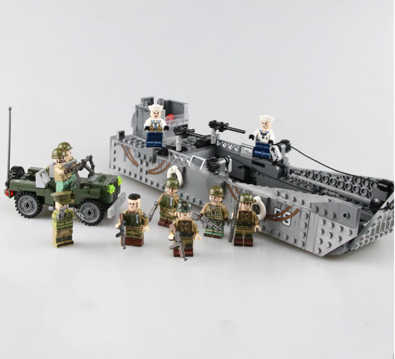 compatible lego LCM Mk3 landing mechanised craft