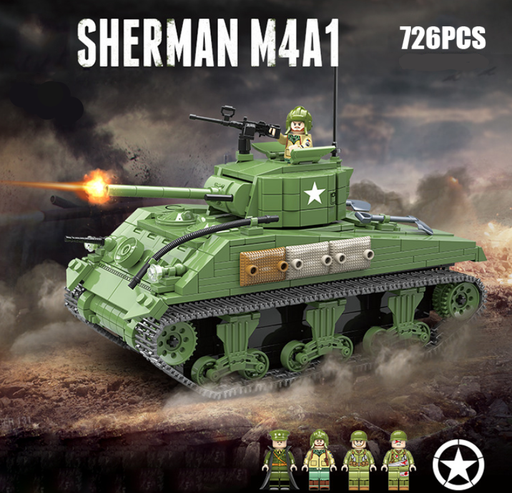 Compatible lego custom Sherman Tank