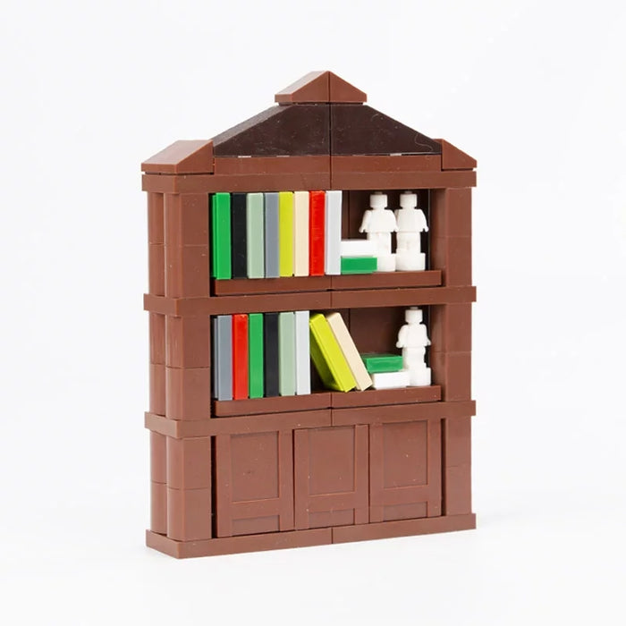 custom lego large bookshelve