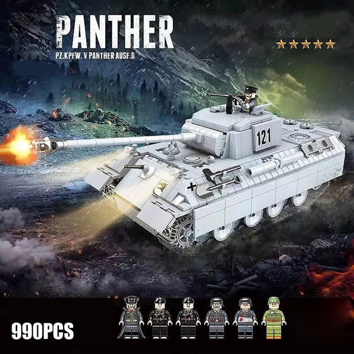 compatible lego German army Panther medium tank