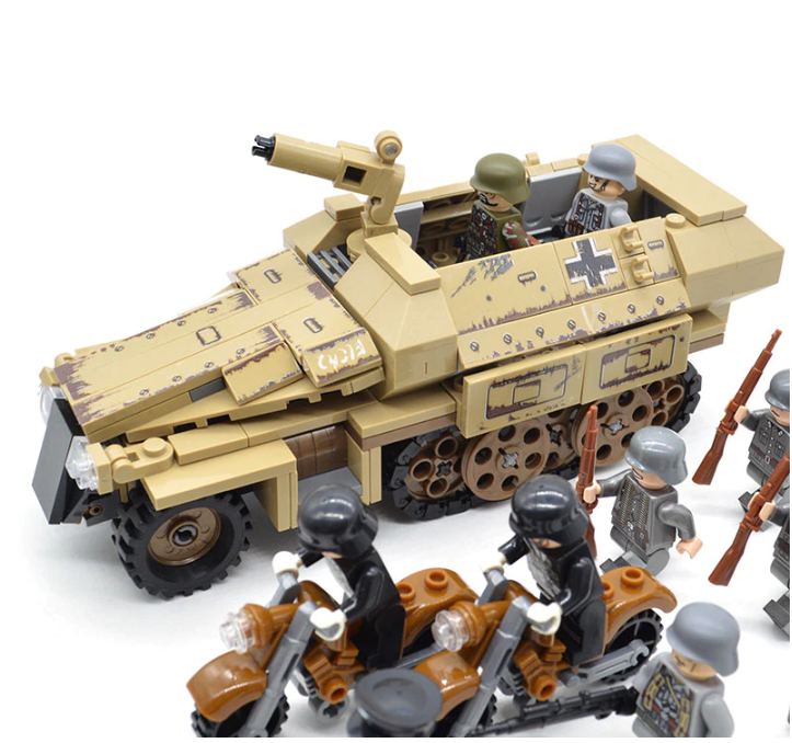 comaptible lego german mechanised army