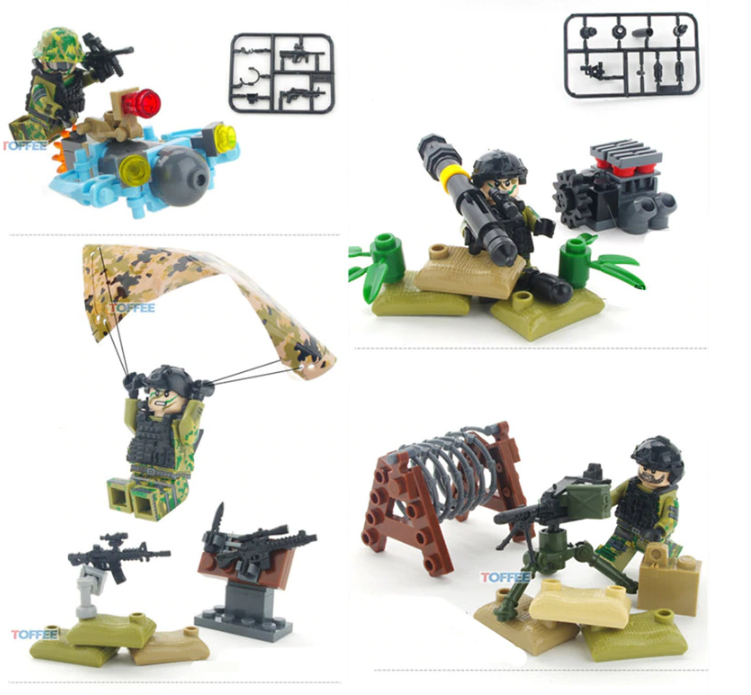 moc army figures building block toys