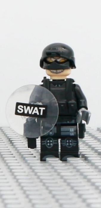 compatible lego minifig with swat riot shield