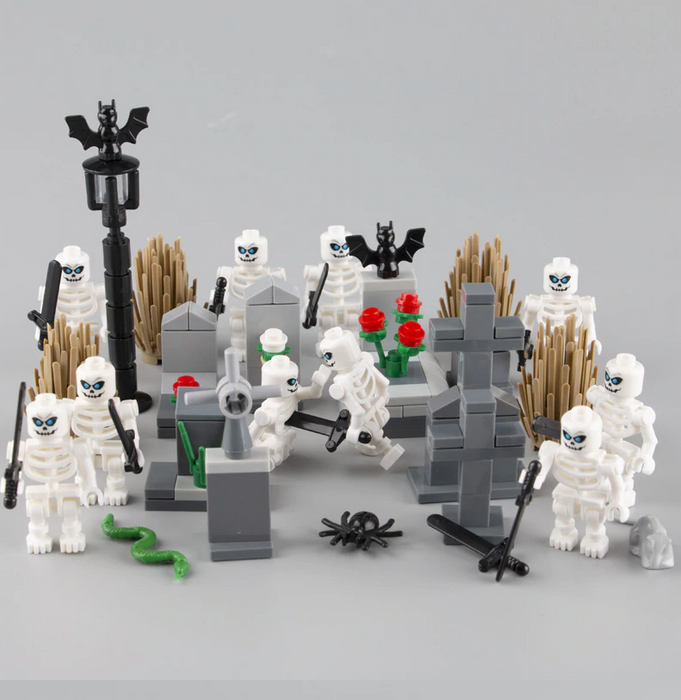custom lego halloween dancing skeletons