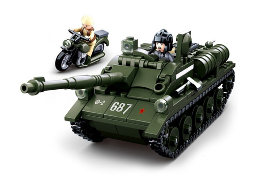 compatible lego SU-85 Tank destroyer