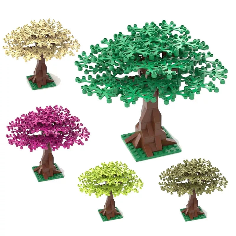 compatible lego building bricks city tree