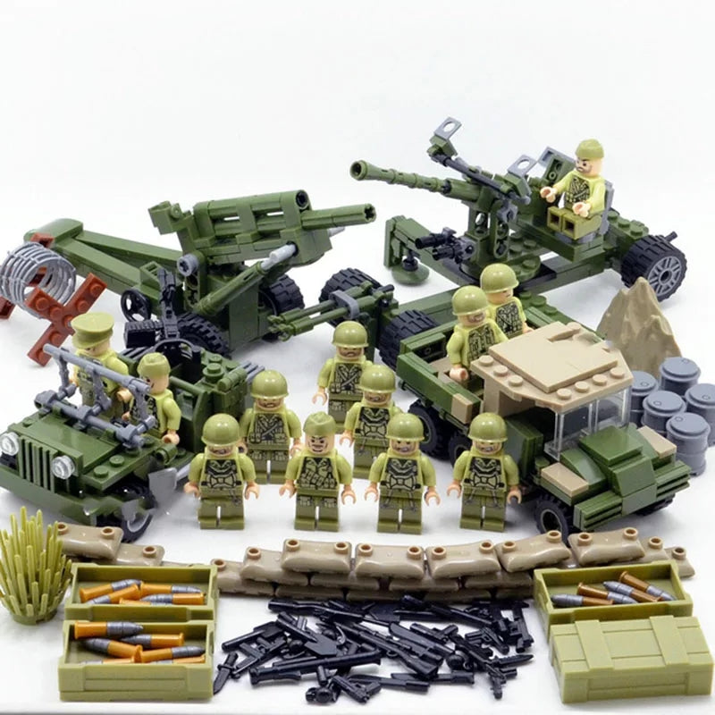 compatible lego ww2 usa army