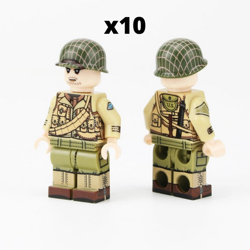WW2 US Army Rangers from Brick block army