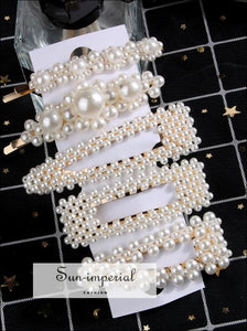 2/4/3/5Pc Hairpins With Pearl Hair Clip Hairband Comb Bobby Pin Barrette Hairpin Headdress Accessories Beauty Styling Tools New SUN-IMPERIAL