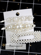 2/4/3/5pc Hairpins with Pearl Hair Clip Hairband Comb Bobby Pin Barrette Hairpin Headdress SUN-IMPERIAL United States