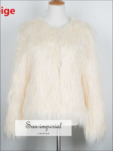6 Colors Plus Size S- 4XL Women Fluffy Faux Fur Coats Jackets Women Winter Warm Coat Female Outerwear SUN-IMPERIAL United States