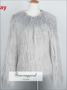 6 Colors plus Size S- 4xl Women Fluffy Faux Fur Coats Jackets Women Winter Warm Coat Female