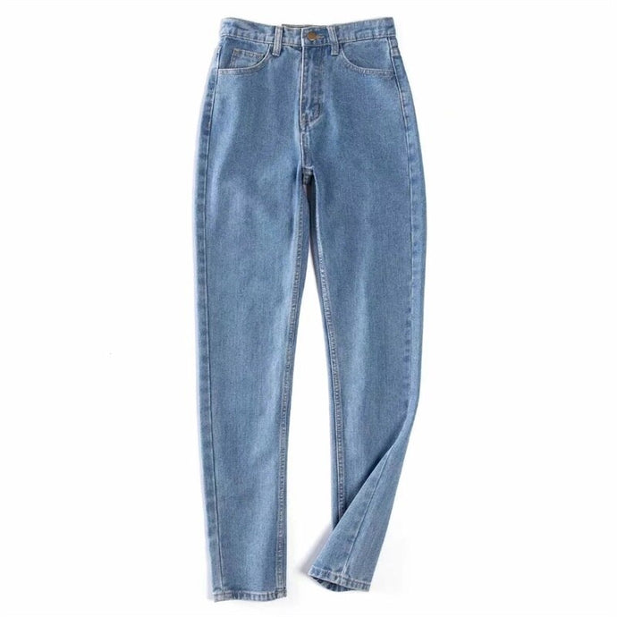 Women High Rise Light Wash Straight Leg Relaxed Fit Jeans Casual Denim Pants