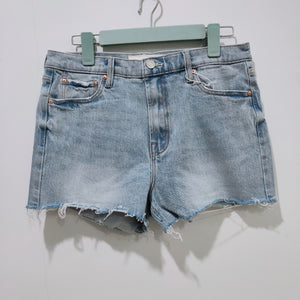 Women  high waist denim shorts with heart print back pocket detail
