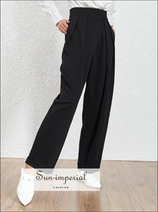 Bailey Pants - Solid High Waist Wide Leg Trousers for Women Elegant, Loose Harem Pants, Trousers, Summer Fashion, vintage SUN-IMPERIAL