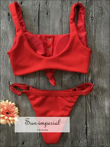 bandage/Red/brazilian/Bikini Push Up two Piece Swimsuit tankini for women SUN-IMPERIAL United States