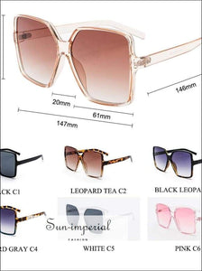 Black Oversized Women Sunglasses Pink Vintage Sunglasses Big Square Sun Glasses for Women Vintage