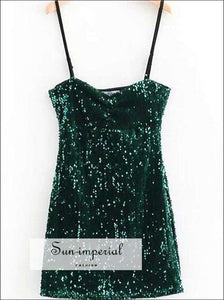 Cami Strap Mini Dress Sequin Party Dress