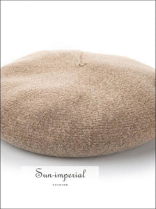 Cashmere Wool Blended Women Beret Hats Fall Winter Hat Classic Style SUN-IMPERIAL United States