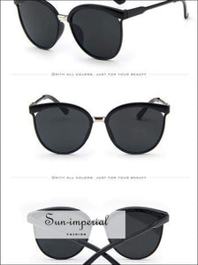 Cat Eye Sunglasses Women Luxury Plastic Sun Glasses Classic Vintage Sunniness SUN-IMPERIAL United States