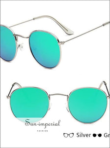 Classic Small Frame Round Sunglasses Women/menalloy Mirror Vintage Sun Glasses SUN-IMPERIAL United States