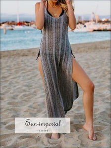 Crochet Beach Handmade Cover Up Wrap Bikini Smock Long Dress SUN-IMPERIAL United States