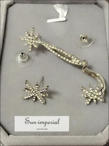 Crystal Star Earrings Ear Cuff Clip on Wrap for Women SUN-IMPERIAL United States