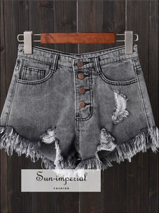Denim Shorts Jeans Black Shorts Vintage Plus Size S-6XL SUN-IMPERIAL United States