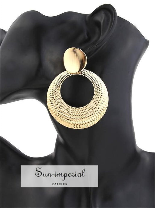 Drop Earrings for Women Geometric Dangle Plated Long Earrings SUN-IMPERIAL United States