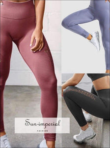 Elastic Breathable Yoga Pants Womens High Waist Push up Leggings Fitness Running Sports Pants Ladies