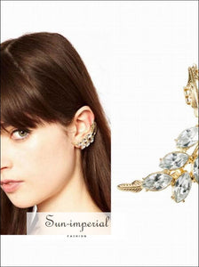 Fashion Jewelry Rhinestone Crystal Ear Cuffs earrings For Women SUN-IMPERIAL United States