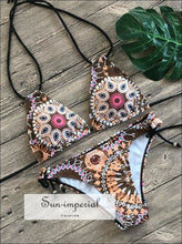 Floral Print Bikinis new Swimwear Women Swimsuit Beach Brazilian Bikini Set SUN-IMPERIAL United States