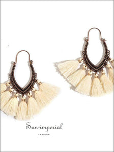 Fringe Vintage Boho Bohemian Ethnic Drop Dangle Hanging Earrings for Women SUN-IMPERIAL United States