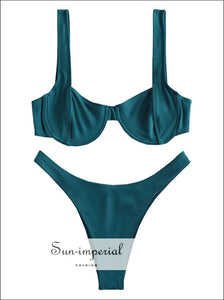 High Cut Underwire Bikini Set swimwear women bikini SUN-IMPERIAL United States