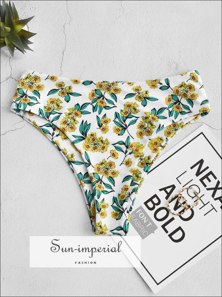 High Leg Floral Bikini bottom SUN-IMPERIAL United States