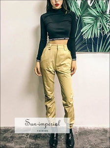 High Waist Pants Cargo Loose Joggers Women Pants Street Wear Punk Style Black/khaki Trousers