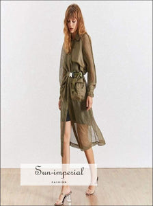 Jack Dress Coat - Summer Elegant Solid Women Coat Lapel Half Sleeve Button High Waist Long
