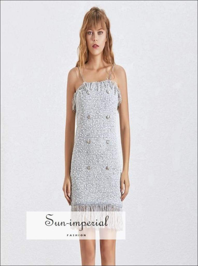 June Dress- Summer Sequined Mini Dress Party Women Sleeveless off Shoulder Spaghetti