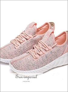 Kancoold Women's Woven Fashion Mesh Breathable Casual Shoes Ladies Lace-up Sneakers Running SUN-IMPERIAL United States