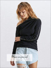 Kendra Knit - Casual Knitted T Shirt for Women O Neck Zipper Long Sleeve Pullover Female Fashion Autumn, Sweatshirts, Neck, vintage,